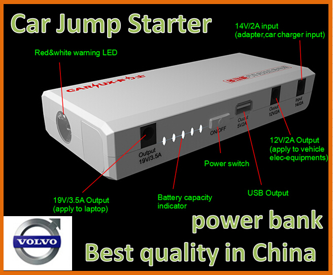 Best quality 12000mAh Multi-Function Car Battery Car Jump Starter  Power Bank for Volvo C30 C70 S40 S60 S80 V50 V70 XC70 XC90<br><br>Aliexpress