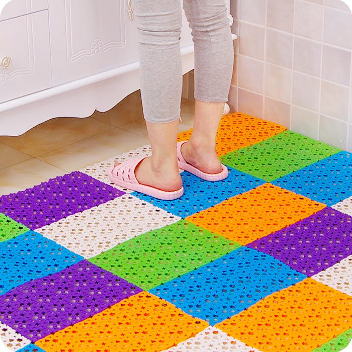 Creative Non Slip Splice Bathe Massage Bathroom Rug Bath Mat Toilet Shower Impermeable Bathroom Floor Mat Mats Carpet Tailorable(China (Mainland))