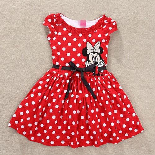 Compra Minnie Mouse vestido de vestuario online al por mayor de ...