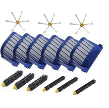 Band new 3 set Brush kit + 6 AeroVac Filter for iRobot Roomba 600 Series 620 630 650 660 Replacement,Vacuum Cleaner Accessories(China (Mainland))