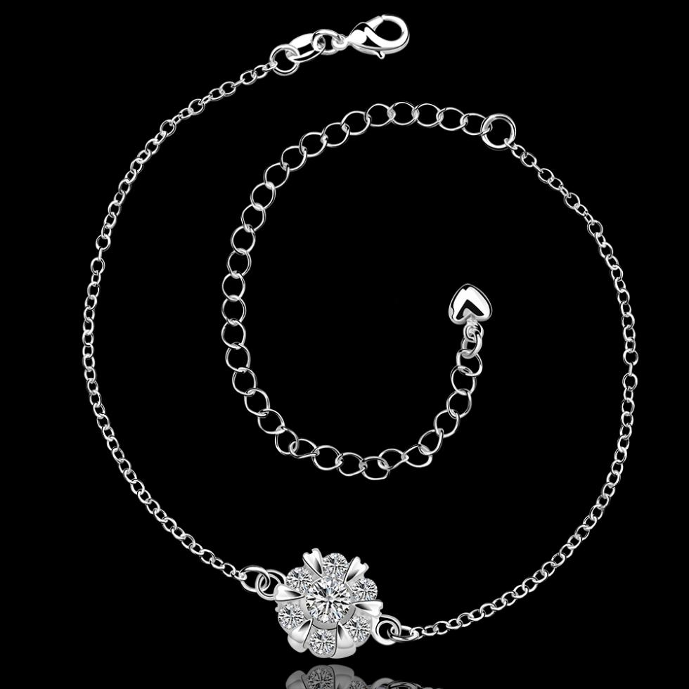leg chain 925 silver anklets for women beach foot jewelry foot jewelry barefoot sandals tornozeleira ankle jewelry shoes woman(China (Mainland))