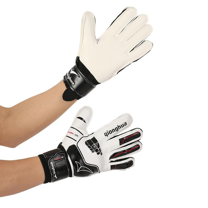 2017 Men Kids Women Soccer Goalkeeper Gloves Football Keeper Goalie Slip Resistant Latex Professional Double Protection(China (Mainland))