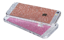 Shiny Glitter Full Body Stickers for iPhone 5 5S SE Sparkling Diamond Decals Matte Screen Protector For Iphone 4/4s Wholesale