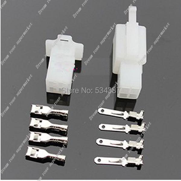 Electric bike/ Car/ RC/ RV molex 2.8mm Connector Plug 4-Pin 10sets=100pcs free shipping FACTORY<br><br>Aliexpress