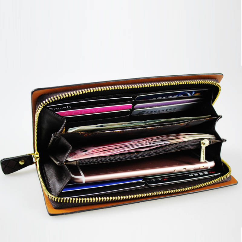 long purse mens zipper wallet
