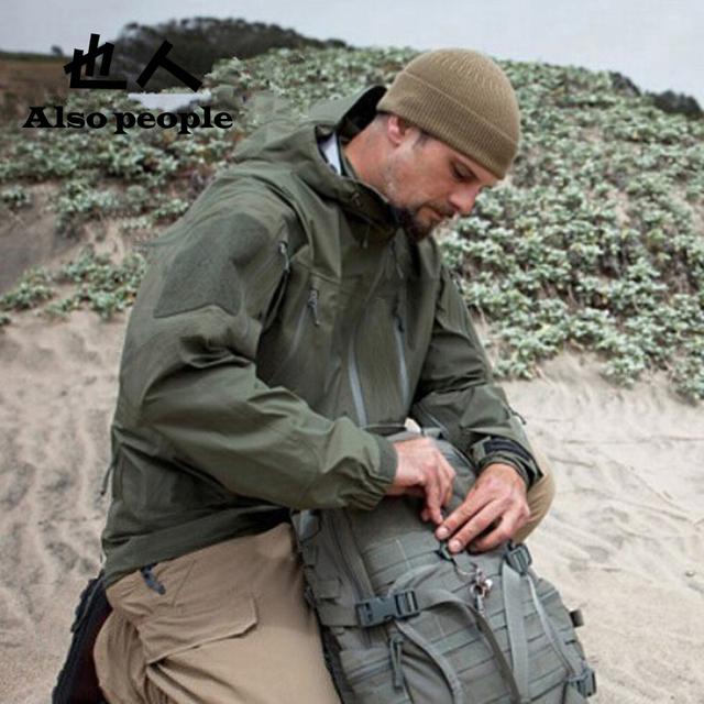 Тактический передач Hardshell куртка мужчины военный камуфляж водонепроницаемый ветрозащитный ...