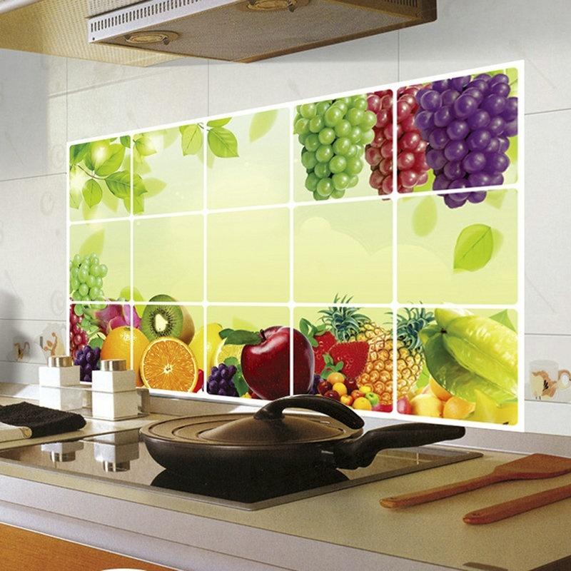 Salle de bains carrelage mural autocollants achetez des for Cuisine carrelee