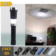 Rechargeable LED Flashlight Torch CREE Q5 Flash Light lanternas led cree Adjustable camping lantern 18650 and Charger(China (Mainland))