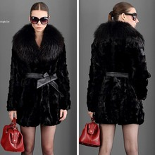 Big Discount! Faux Fur Coats Black Outwear Women's Winter Coat Long Warm Jacket Size S-XXXL Brand style Sexy b9 - Shenzhen Gache Trading Limited store
