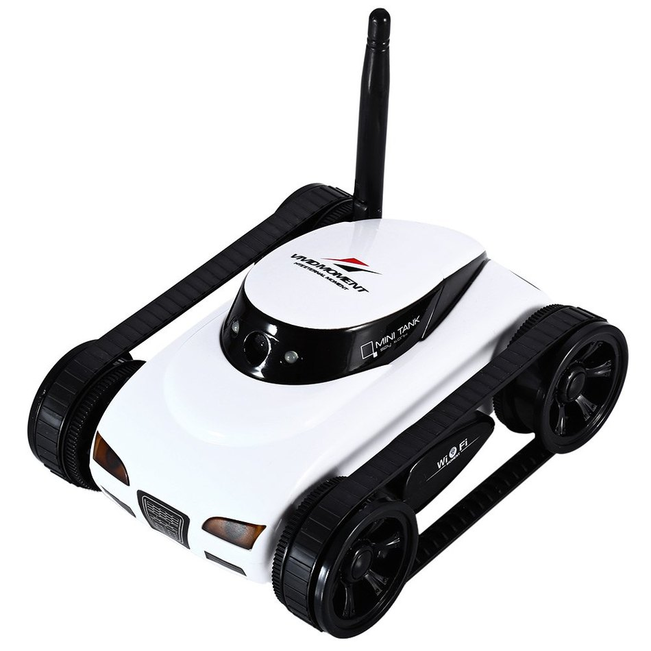 WiFi Mini RC Camera Tank Car ISpy with Video 0.3MP Camera 777-270 Remote Control Robot with 4CH Suppots By Iphone Android App(China (Mainland))