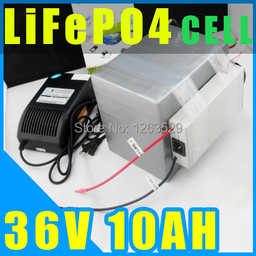 36V 10AH LiFePO4 Battery ,Lithium Battery Electric Scooter Pack E-bike With BMS + Charger + Express 20153610-1(China (Mainland))