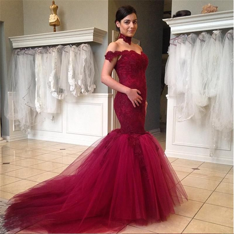 Collection Off The Shoulder Red Prom Dress Pictures - Reikian