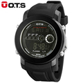 Brand OTS Men Fashion Watch Outdoor Waterproof Sport Rubber Strap Mens LED Digital Watches Relogio Masculino