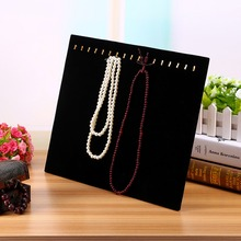 High Quality Hot Black Velvet Material Necklace Jewelry Pendant Chain Show Display Holder Stand Neck Holds up to 17 Necklaces(China (Mainland))