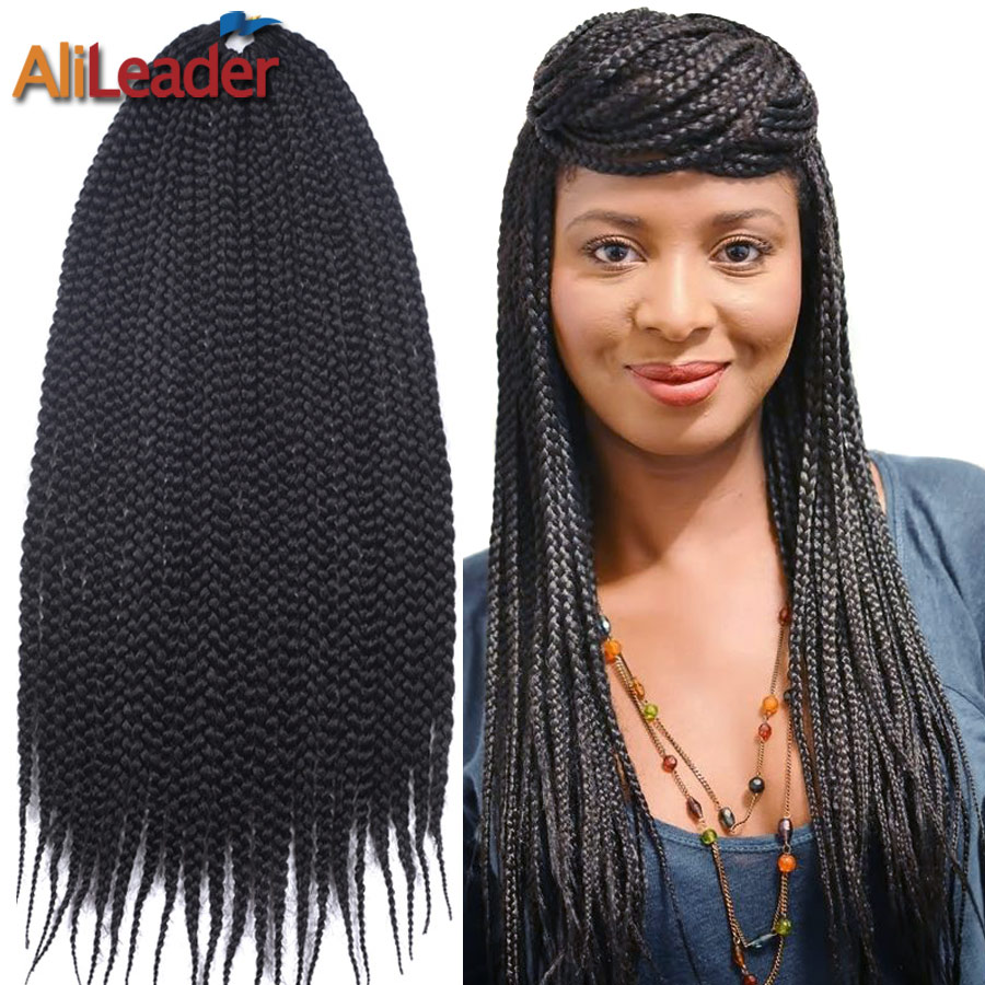 Box Braids Crochet Hair Medium 12 16 20 24 Inch 22Roots/Pack Crochet ...