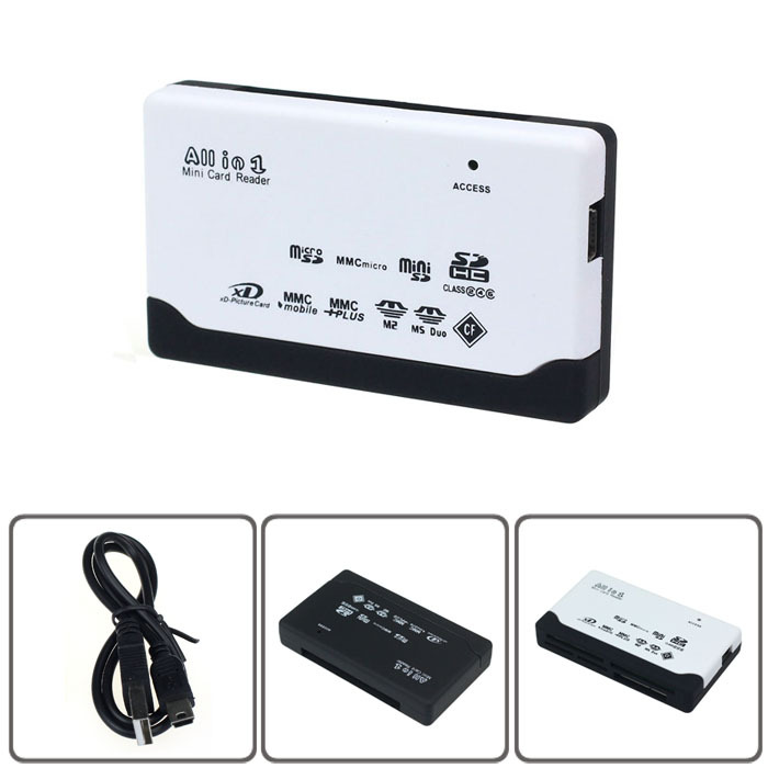 New USB 2.0 Card Reader for SD XD MMC MS CF SDHC TF Micro SD M2 Adapter(China (Mainland))