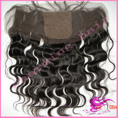 Peruvian virgin hair silk top lace frontal with baby hair body wave silk base frontal closure 13 x 4 virgin lace frontal piece(China (Mainland))