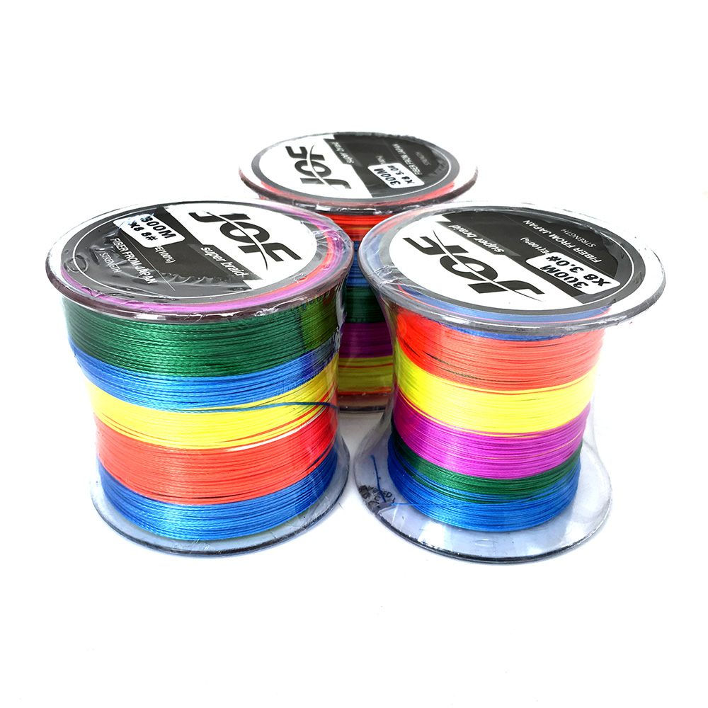 300M Brand Superpower 8 Strands Strong Japan Multifilament 100%PE Braided Fishing Line 30,50,80 LB Multicolor Colorful Line(China (Mainland))