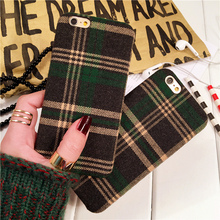 For iphone 7 / 7 plus phone case | Velvet soft silicone Plaid Bear Classic phone cover(China (Mainland))