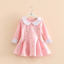 Buy Baby girl autumn dress children dot bow printed long sleeve clothes kids casual cotton clothing winter princess girls dresses for $17.91 in AliExpress store