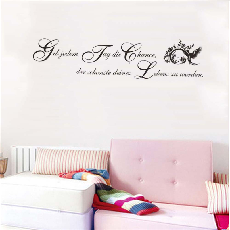 german inspirational quotes wall stickers girls bedroom wall decals quotes quotesgram