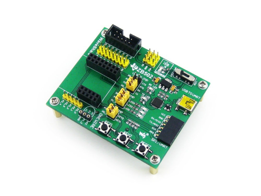 ZB502 ZigBee Wireless Expansion Motherboard for Connecting Zigbee Module CC2530 &Accessories with CP2102 on Board for Debugging(China (Mainland))