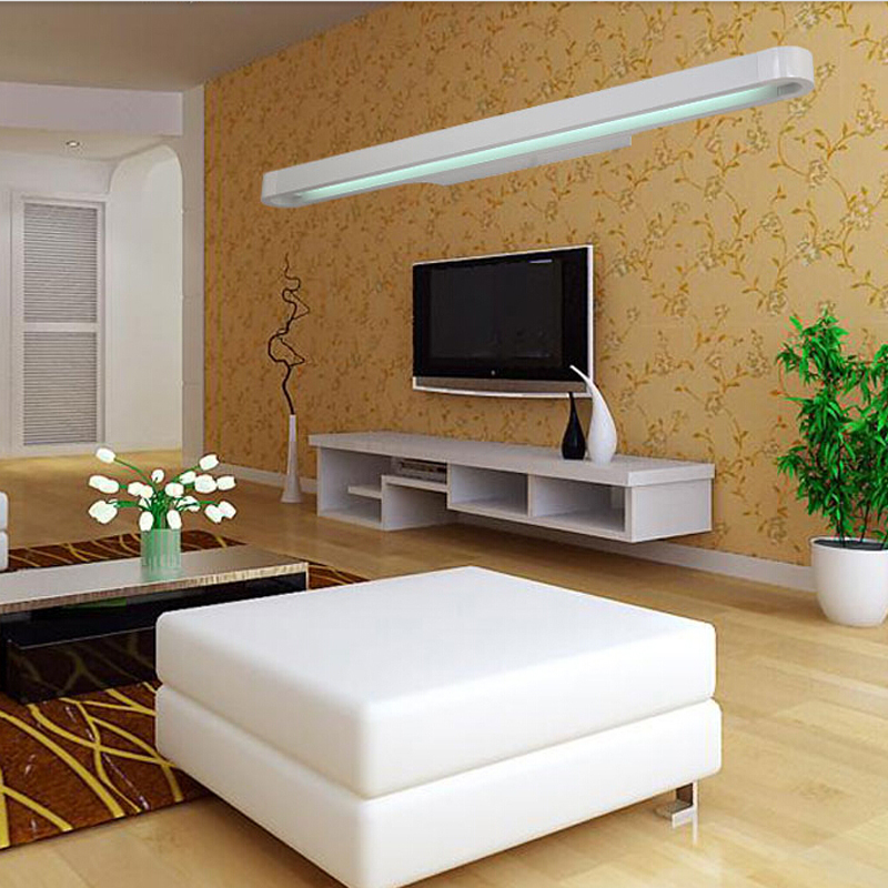 Rectangle straightedge led wall lamps creative nordic for Living room wall lights