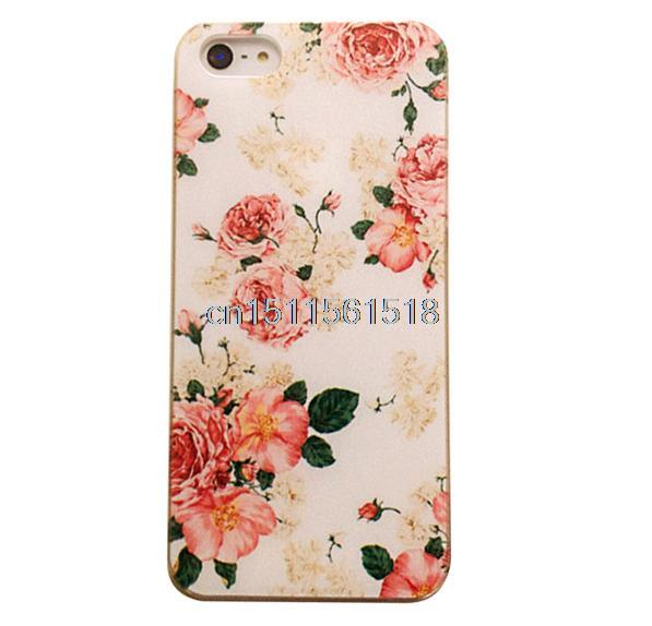 For Iphone 4 4S 5 5S 5C 6 4.7 New Small Flower Coloured New Cartoon Custom Printed Hard Plastic Mobile Protector Case Cover(China (Mainland))