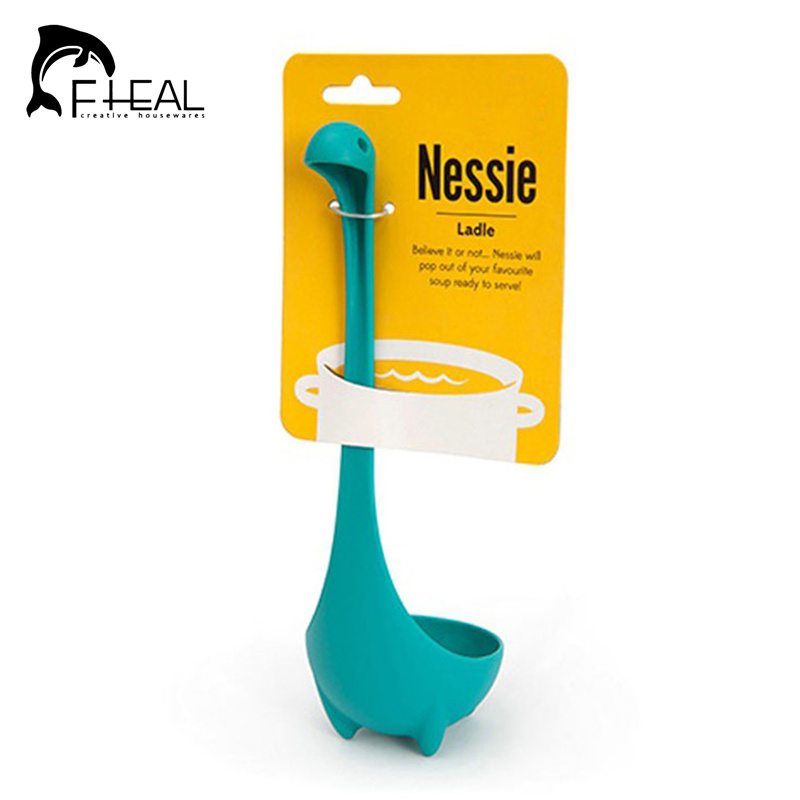 Creative Nessie Dinosaur Soup Spoon Long Handle Lovely Monster Porridge Spoons Dinnerware Cooking Tools Kitchen Accessories(China (Mainland))