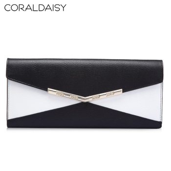 Coraldaisy New  2013 Patchwork  Wallet  Leisure Bump Color Purse Wallet  Women  Brand Wallet Quality Clutch