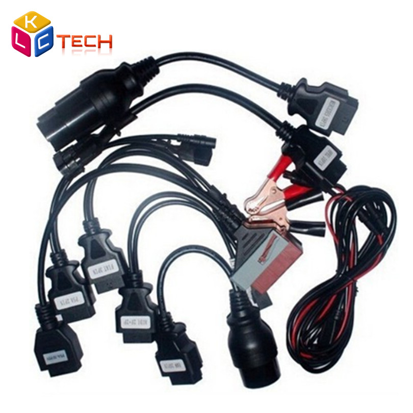 3pcs/lot Best Selling OBDII OBD2 Full Set 8 Car Cables Work For TCS CDP Pro Plus Car Cable Diagnostic Scan Tool Interface(China (Mainland))