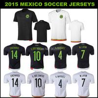 AAA 2014 팬 버전 멕시코 거리에 레드/ 블랙 R. 마르 chicharito O. 페랄타 R. 네즈 긴 소매의 최고 품질의 축구 저지