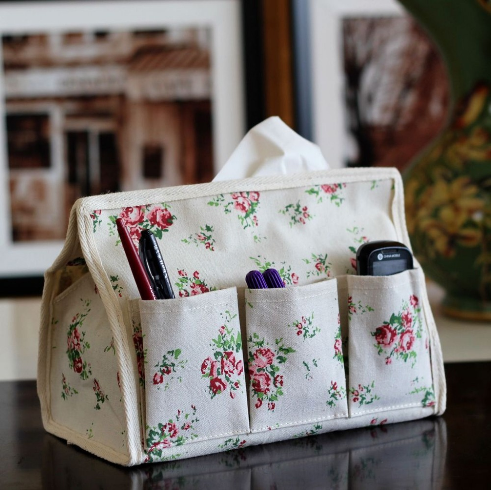 European style Flower Tissue box quality fashion exquisite case home Decor Cute Floral Facial Tissue pumping napkin holder(China (Mainland))