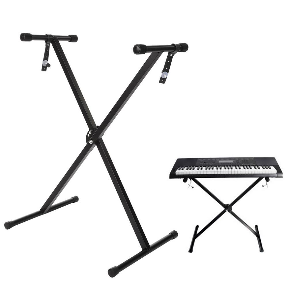 New X Shape Black Music Keyboard Electronic Piano Single-Tube Adjustable Stand New Brand(China (Mainland))