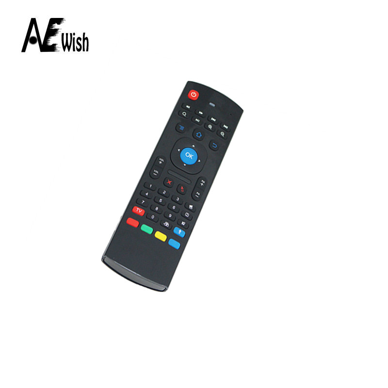 2016 Newest 2.4GHz IR Remote Control Air Mouse Wireless Flying Double Keyboard Microphone Voice for XBMC Android Mini PC TV Box(China (Mainland))