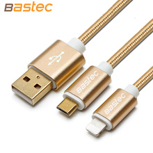 Bastec Original Fashion Nylon Line and Metal Plug Micro USB Cable for iPhone 6 6s Plus 5s iPadmini / Samsung / Sony / Xiaomi(China (Mainland))