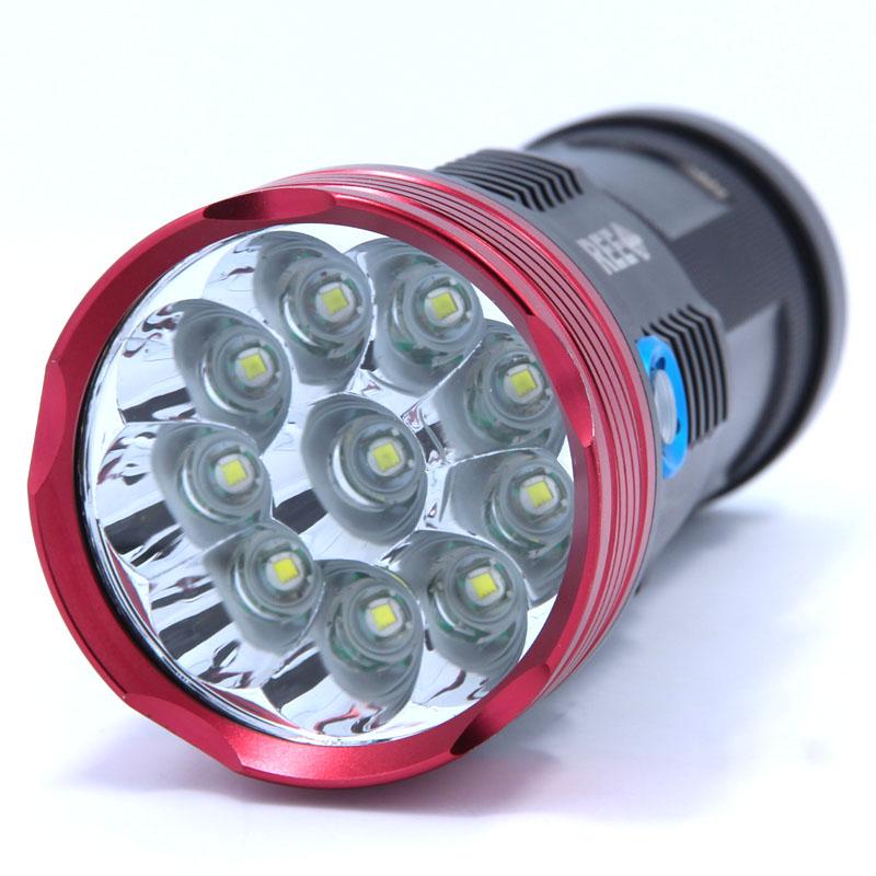 16000 lumens 10T6 LED flashlamp 10 x CREE XM-L T6 LED Flashlight Torch Lamp Light Lantern(China (Mainland))