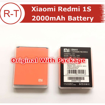 Xiaomi Redmi 1S Battery High Quality 100% Original BM41 2000mAh Li-ion Battery Replacement for Hongmi 1S in stock + Package