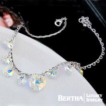 Aliexpress Hot Sell Brand Chain Link Bracelet Pulseras For Women With Swarovski Elements Crystal Cristal Bijoux Fine Jewelry(China (Mainland))