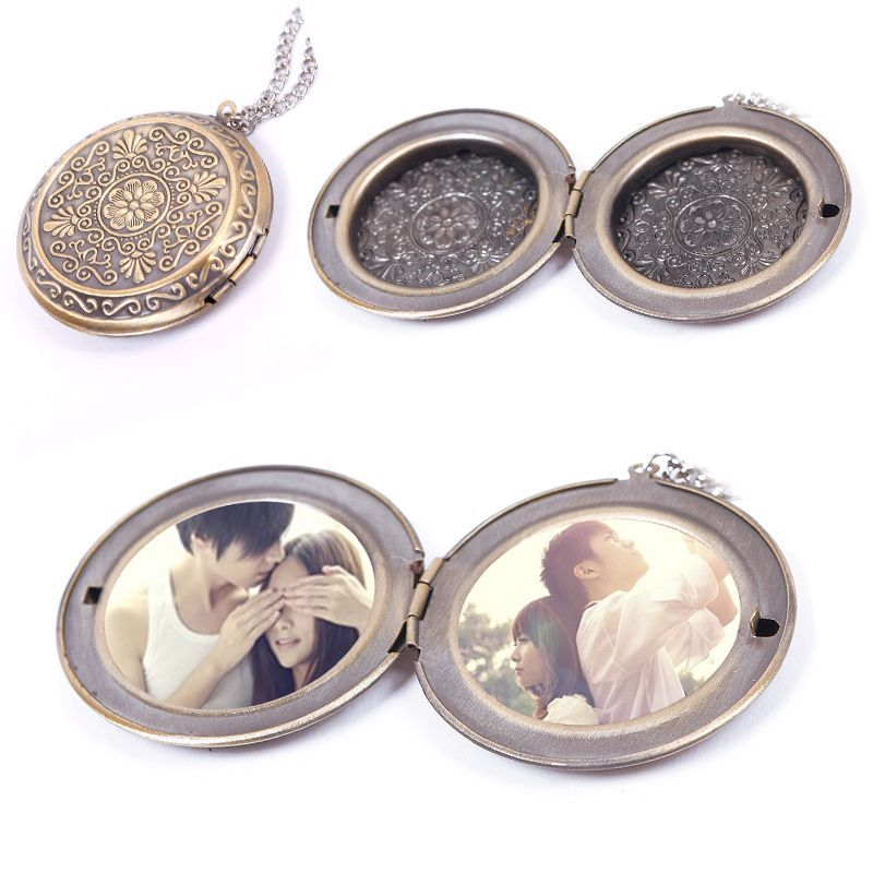 Wholesale wholesale amazing photo frame book bronze pendant locket retro women men bronze round hollow aloadofball Choice Image
