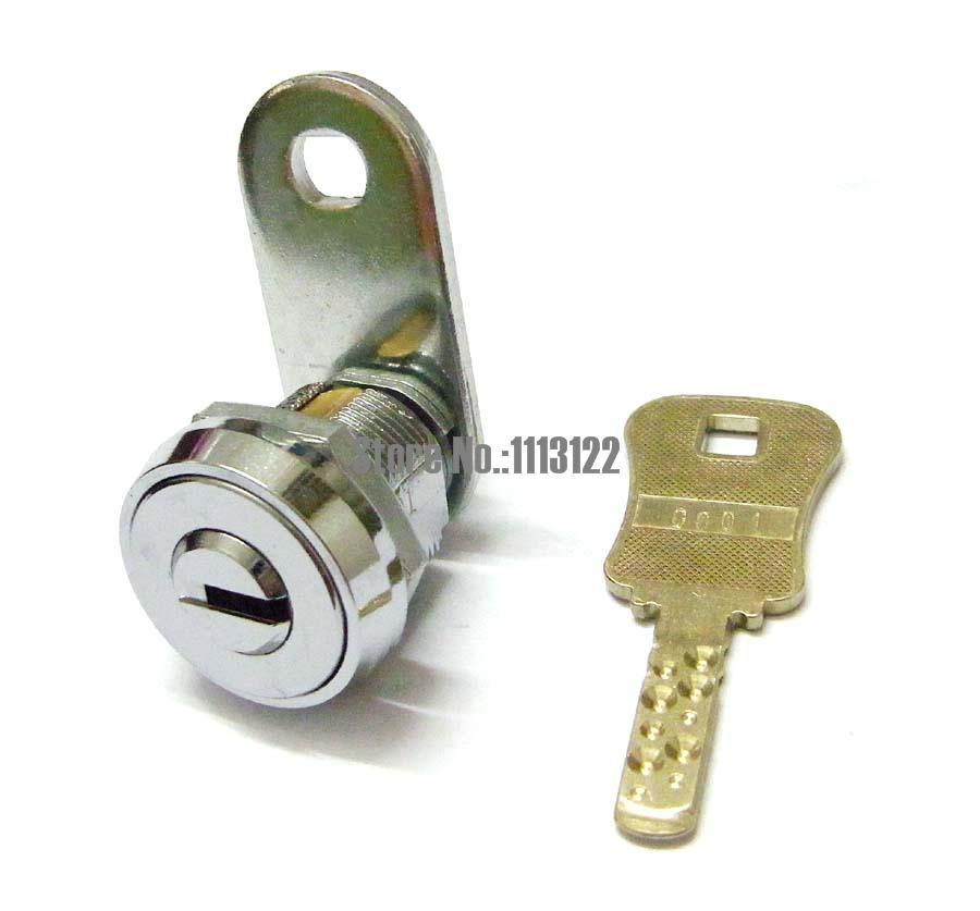 flat key cam lock for arcade machine cash door safe lock for game machine lock vending machine lock 5 Pcs(China (Mainland))