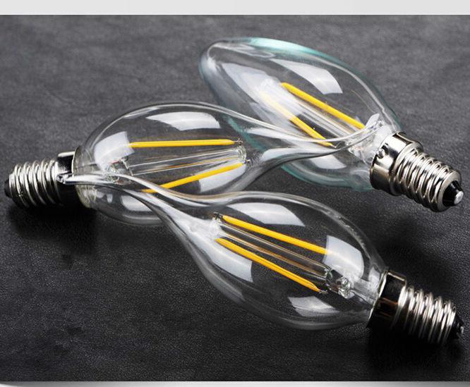1Pc New Design 2W 4W 6W E14 AC220V 110V E14 LED Filament Candle Bulbs 360 Degree Led Bulb Light Lamp Vintage pendant lamps(China (Mainland))