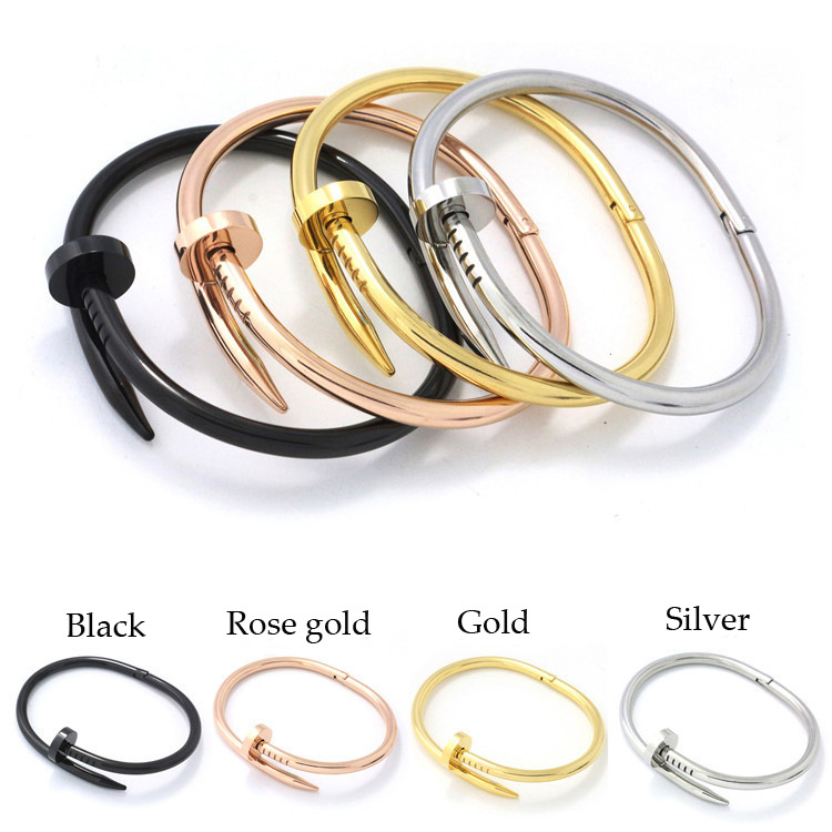 2016 Punk Jewelry Rose Gold Color Silver Rhinestone Cute Bracelet Open Cuff Bangles & Bracelets(China (Mainland))