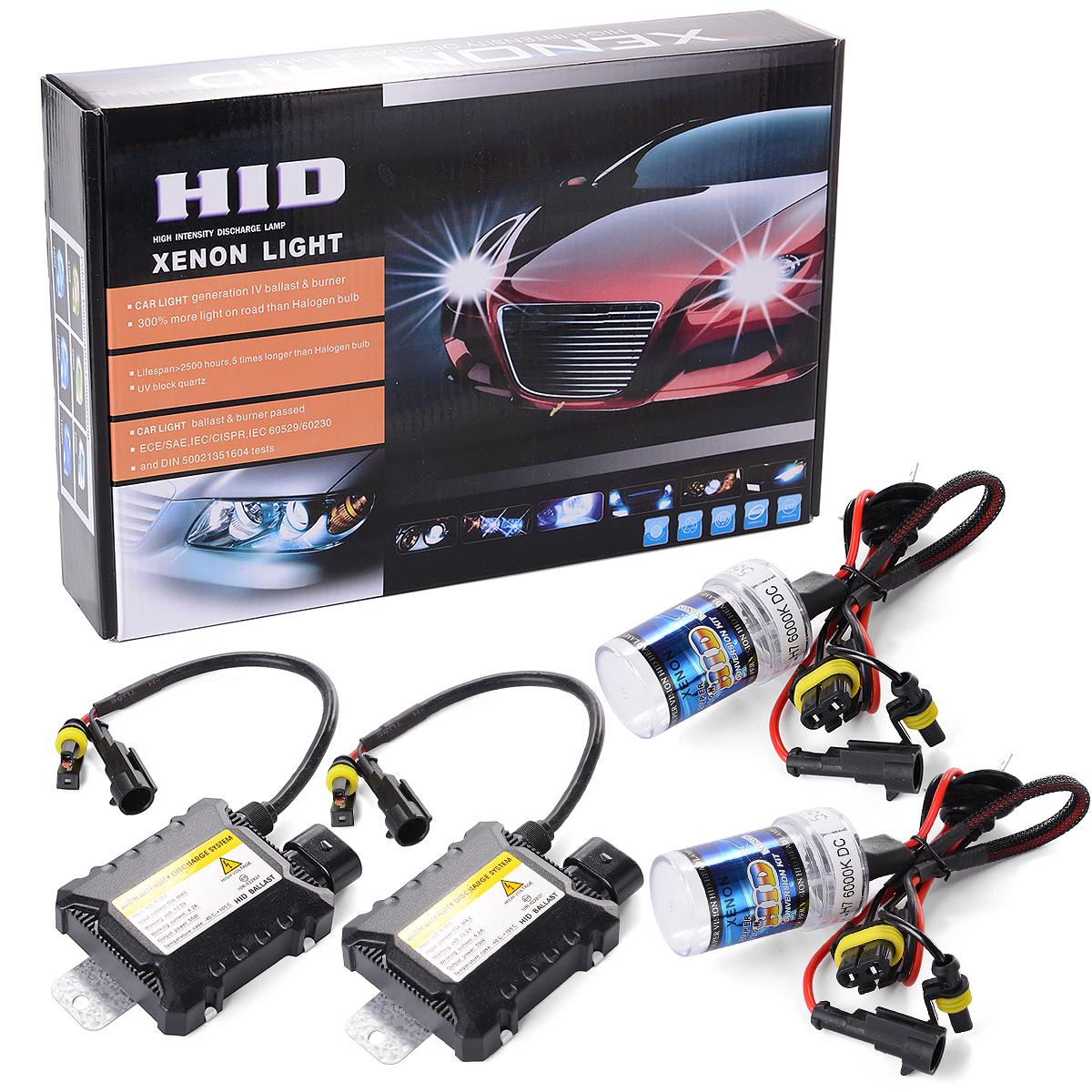 55W High Intensity Replacement Headlight Kit HID Xenon Lamp Bulbs 6000K H7 Foglight Slim Ballast Conversion Lighting MA098-SZ(China (Mainland))