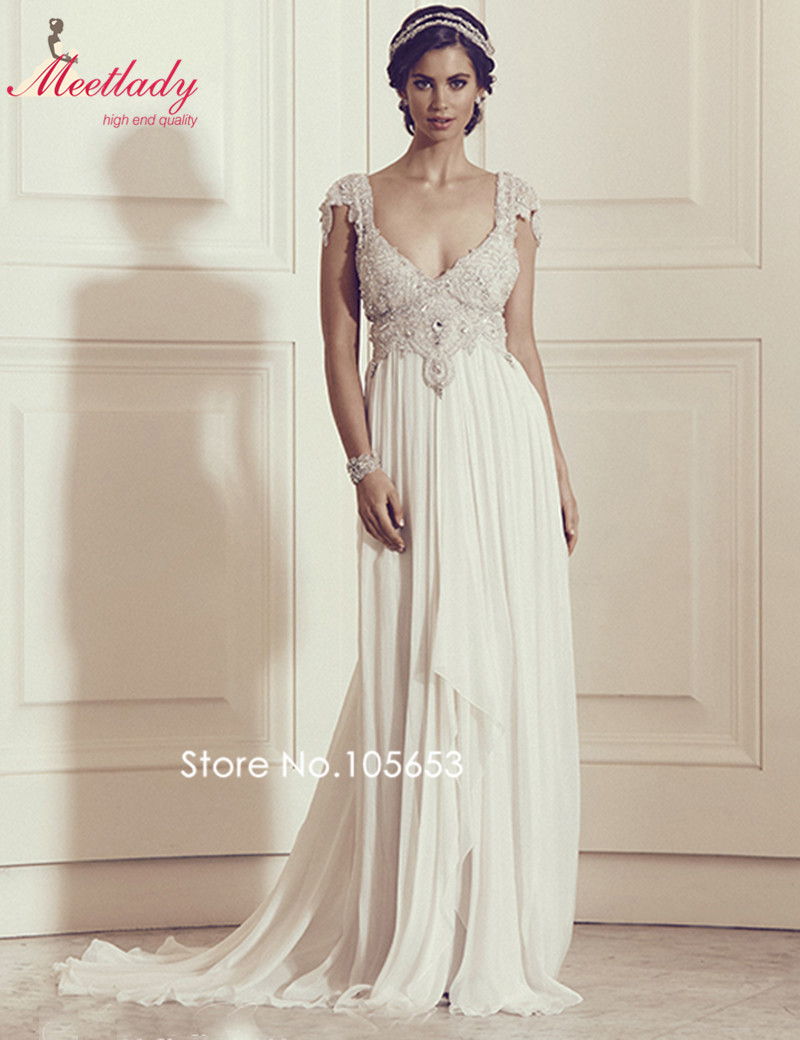 Vintage lace sweetheart neck backless beach wedding dress for Backless beach wedding dresses