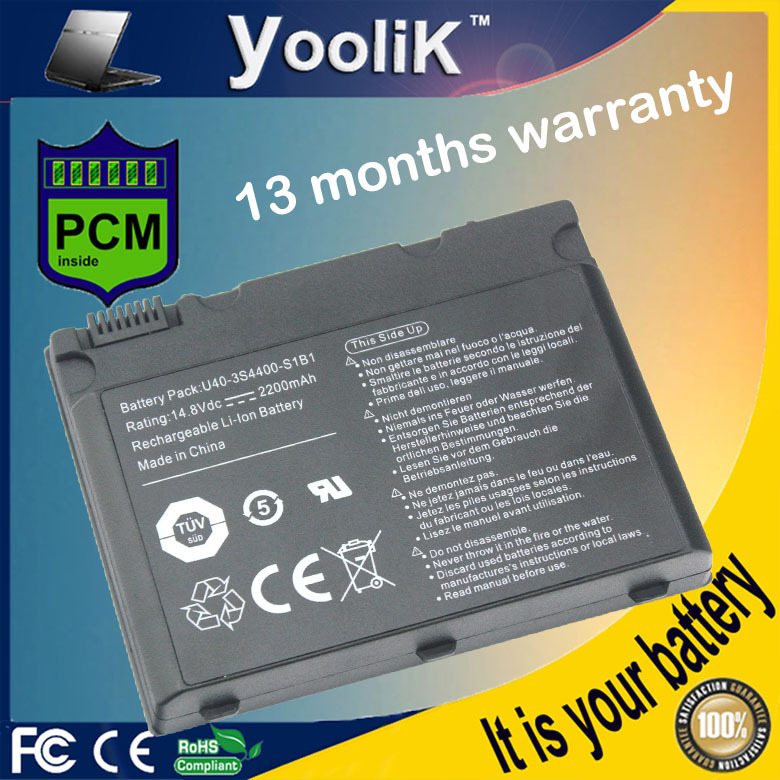 14.8V laptop battery for Advent 1015 1315 5301 5302 5311 5312 5313 5421 5431 5511 5611 5612 5711 5712 6441 U40-4S2200(China (Mainland))