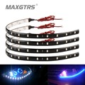 10x 30cm Blue Green Red White Waterproof DRL Light 5050 12 SMD High Power Flexible LED