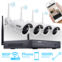 ZOSI 1.3MP Plug and Play Wireless NVR Kit P2P 960P/720P HD Outdoor IR Night Vision Security IP Camera WIFI CCTV System