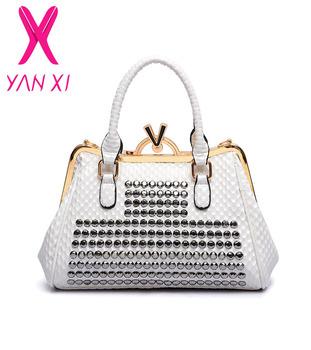 2015 New luxury handbag shoulder fashion genuine leather high quality diagonal package diamond serpentine retro boom lady bag