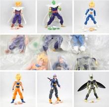 6pcs/set Dragonball Z Dragon Ball DBZ Anime 16cm Goku Vegeta Piccolo Gohan super saiyan Joint Movable Action Figure Toy